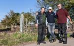 27. Werkmeesters Will en Ton van Schoolfort met Frans Rodenburg