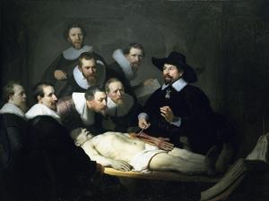 Rembrandt's-professor-Tulp-aan-het-werk