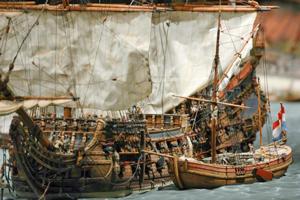 Maquette-van-bevoorrading-op-de-rede-van-Texel